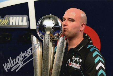Rob Cross, PDC darts player, signed 12x8 inch photo.